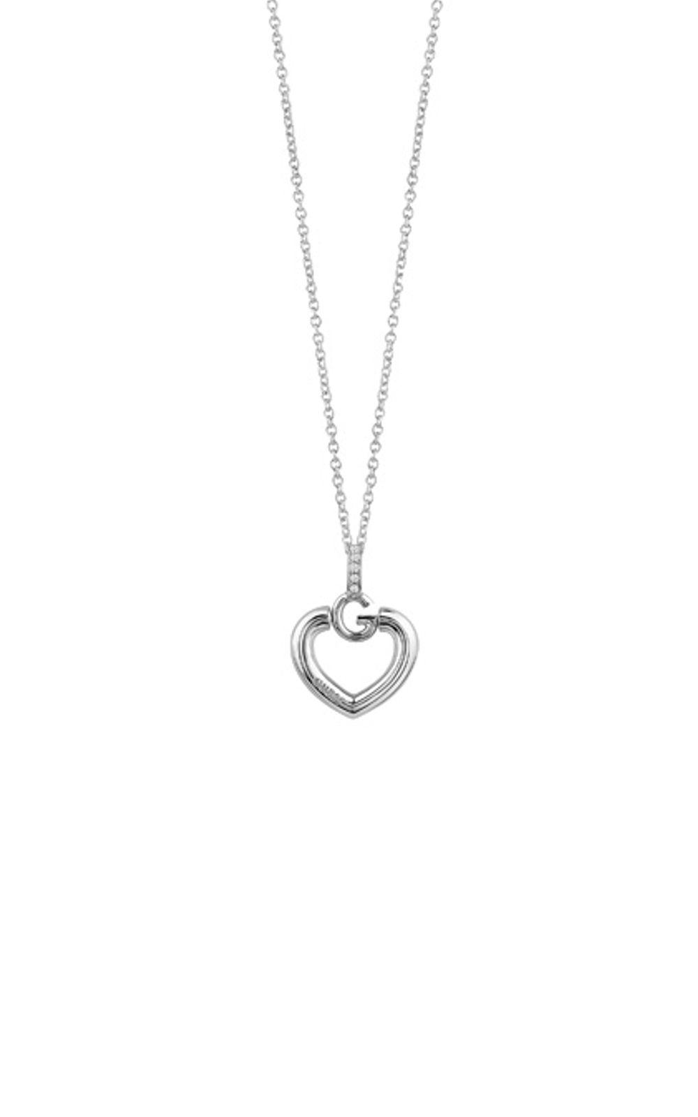 GUESS FAUX UBN83009 Ασημένιο Κολιέ Με Καρδιά
