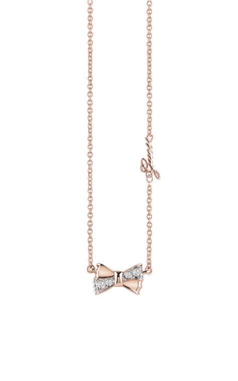 GUESS FAUX UBN83016 Ροζ Χρυσό Κολιέ Με Φιογκάκι
