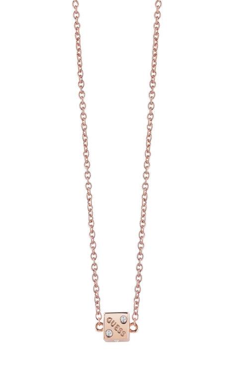 GUESS FAUX UBN83057 Ροζ Χρυσό Κολιέ Με Ζάρι