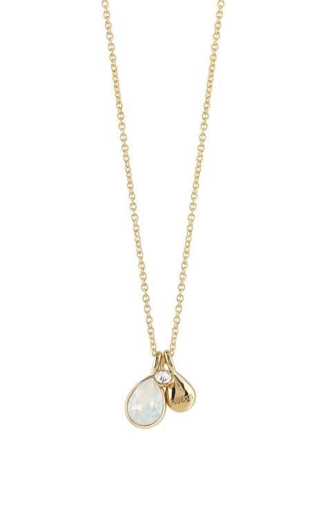GUESS FAUX UBN83062 Χρυσό Κολιέ Με Τριπλό Σχέδιο