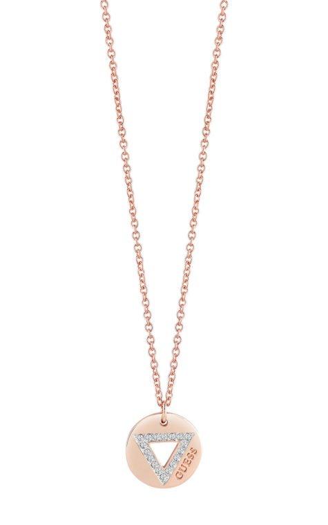 GUESS FAUX UBN83080 Ροζ Χρυσό Κολιέ Με Τρίγωνο