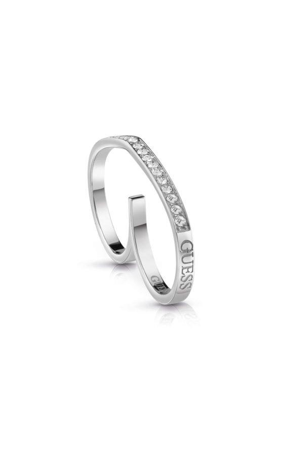 GUESS FAUX UBR28003-54 Ασημένιο Δαχτυλίδι Διπλό