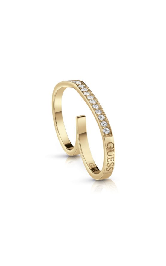GUESS FAUX UBR28004-54 Χρυσό Δαχτυλίδι Διπλό