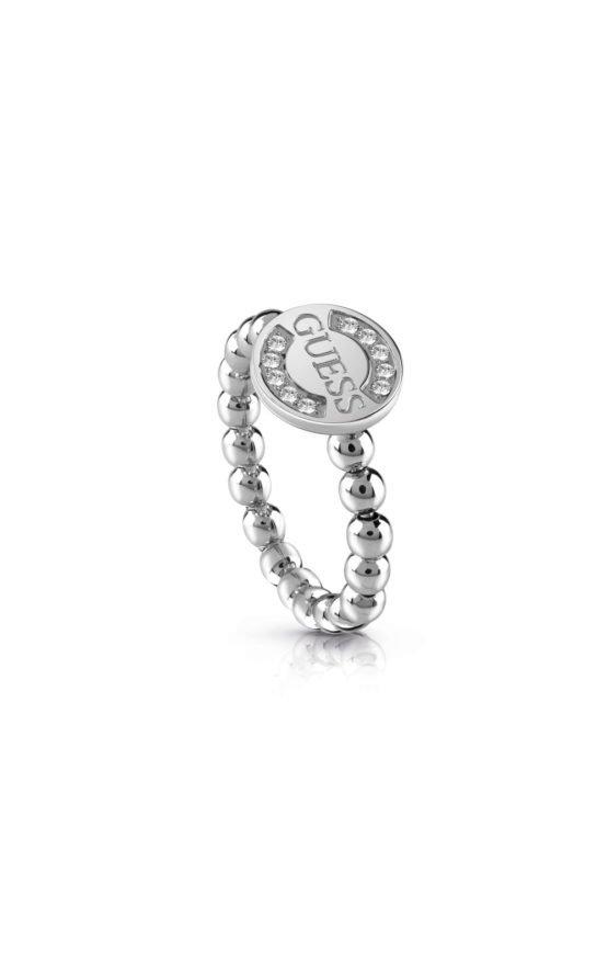 GUESS FAUX UBR28009-54 Ασημένιο Δαχτυλίδι Με Χάντρες