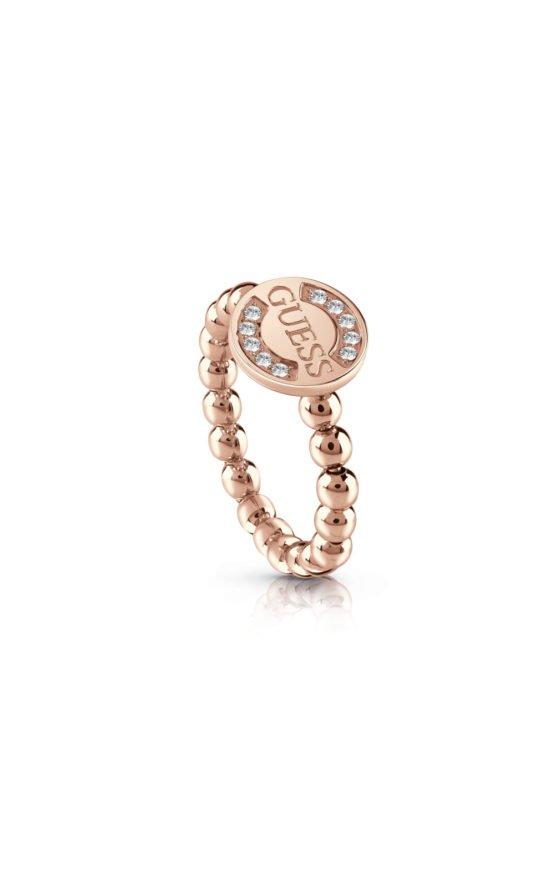 GUESS FAUX UBR28011-54 Ροζ Χρυσό Δαχτυλίδι Με Χάντρες