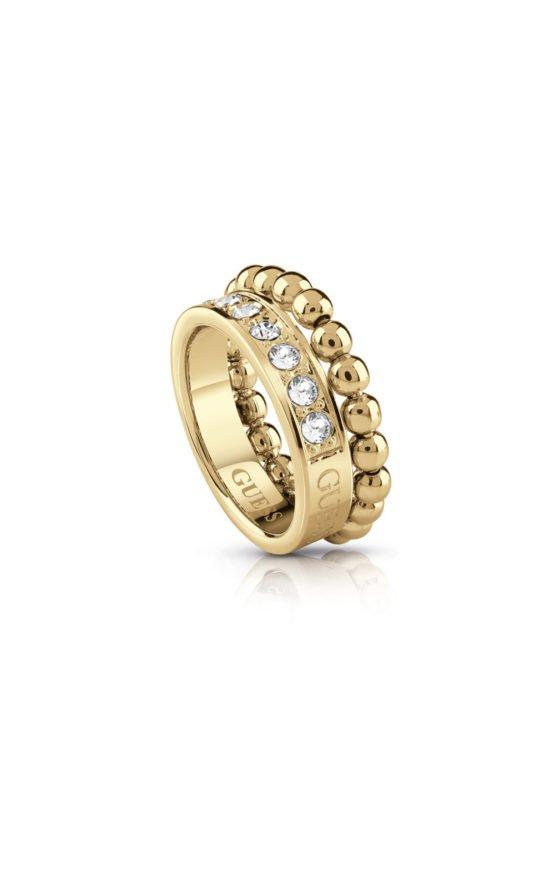 GUESS FAUX UBR28013-54 Χρυσό Δαχτυλίδι Με Χάντρες