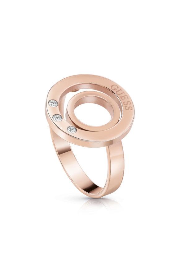GUESS FAUX UBR29008-54 Ροζ Χρυσό Δαχτυλίδι Με Διπλό Κύκλο
