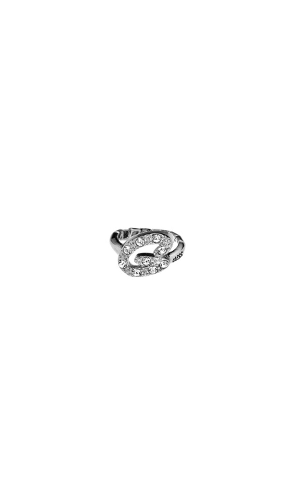 GUESS FAUX UBR31201 Ασημένιο Δαχτυλίδι Με Λογότυπο