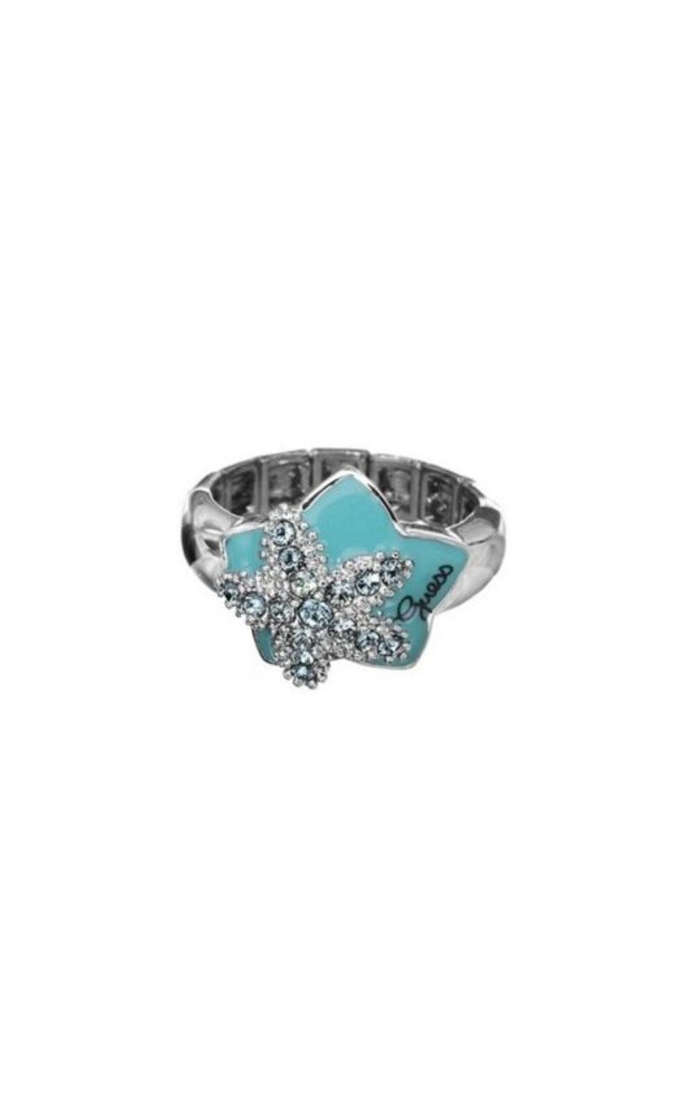 GUESS FAUX UBR41201-L Ασημένιο Δαχτυλίδι Με Αστέρι