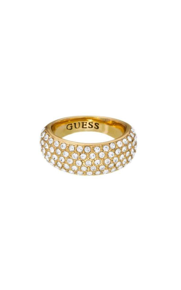 GUESS FAUX UBR51432-52 Χρυσό Δαχτυλίδι Με Πέτρες