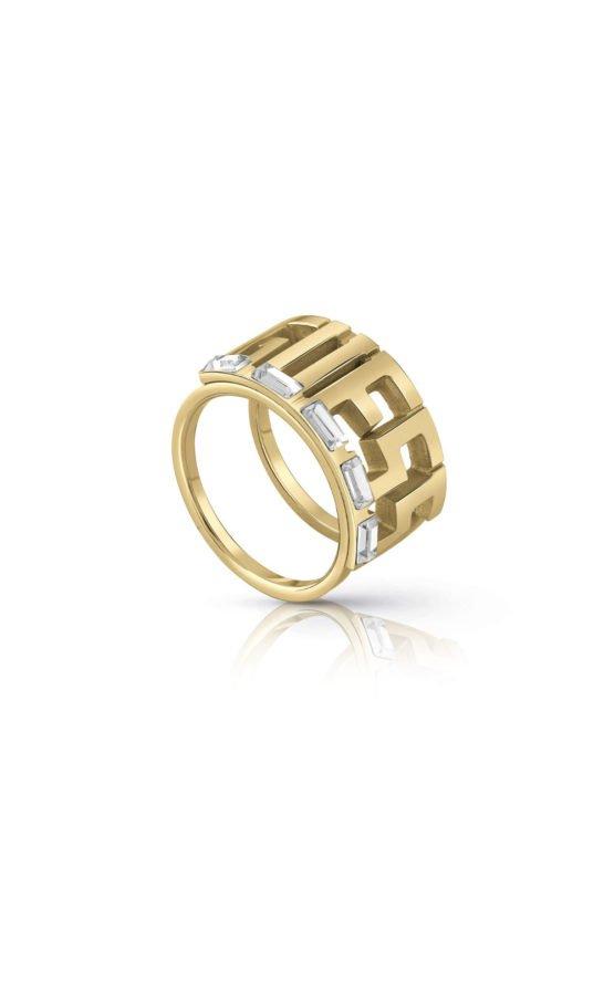 GUESS FAUX UBR78012-52 Χρυσό Δαχτυλίδι Με Λογότυπο