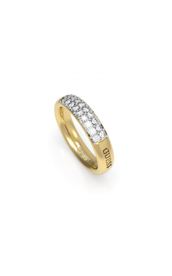 GUESS FAUX UBR78020-52 Χρυσό Δαχτυλίδι Με Λογότυπο & Πέτρες