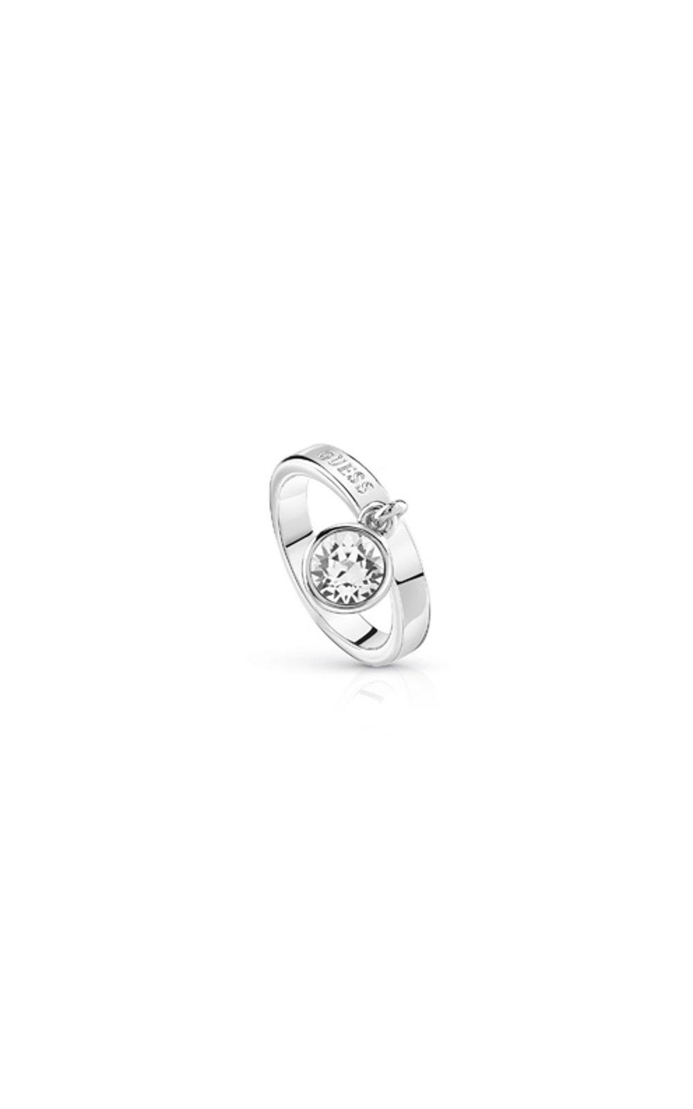 GUESS FAUX UBR84022-54 Ασημένιο Δαχτυλίδι Με Πέτρα