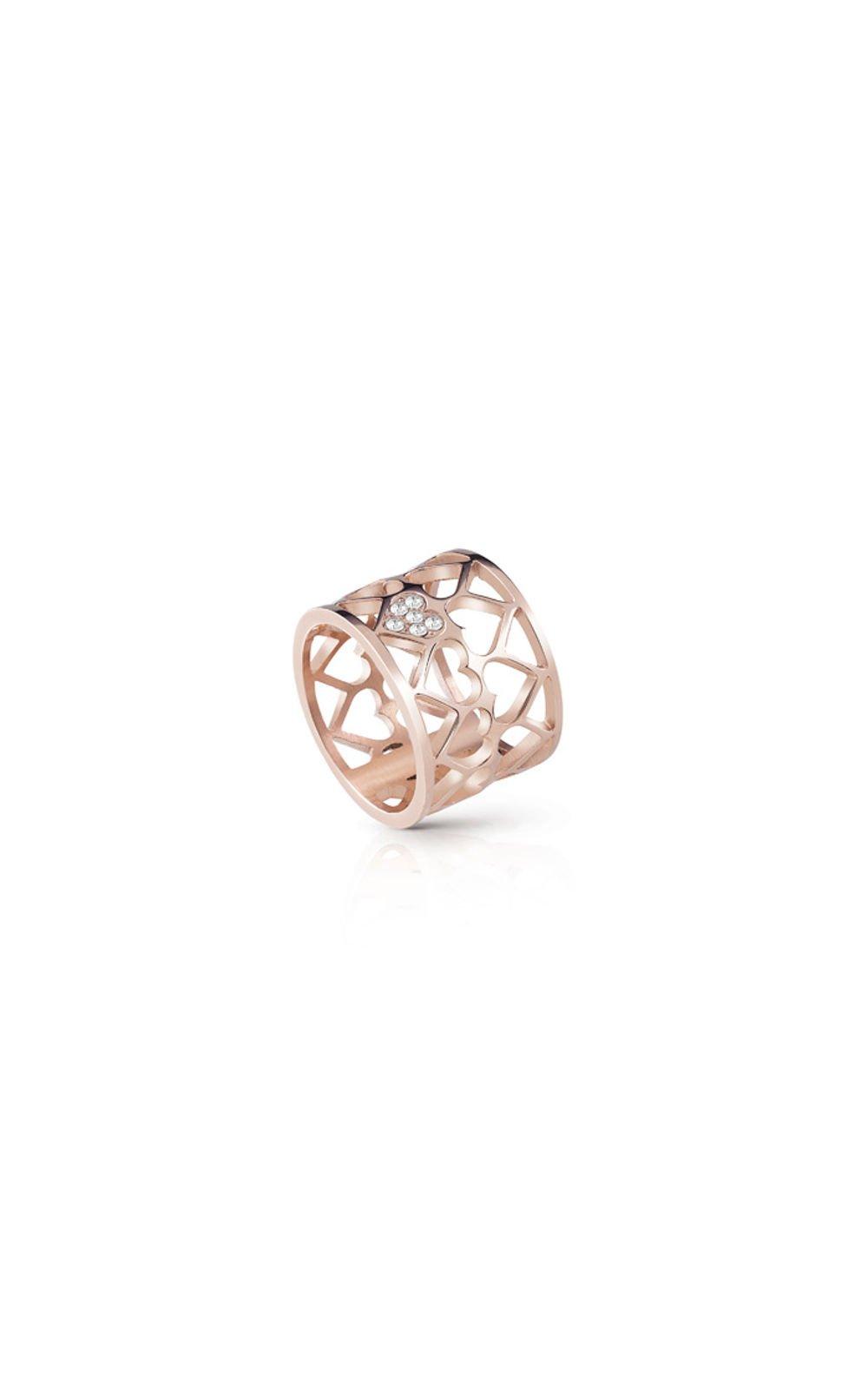 GUESS FAUX UBR85008-54 Ροζ Χρυσό Δαχτυλίδι Με Καρδιές