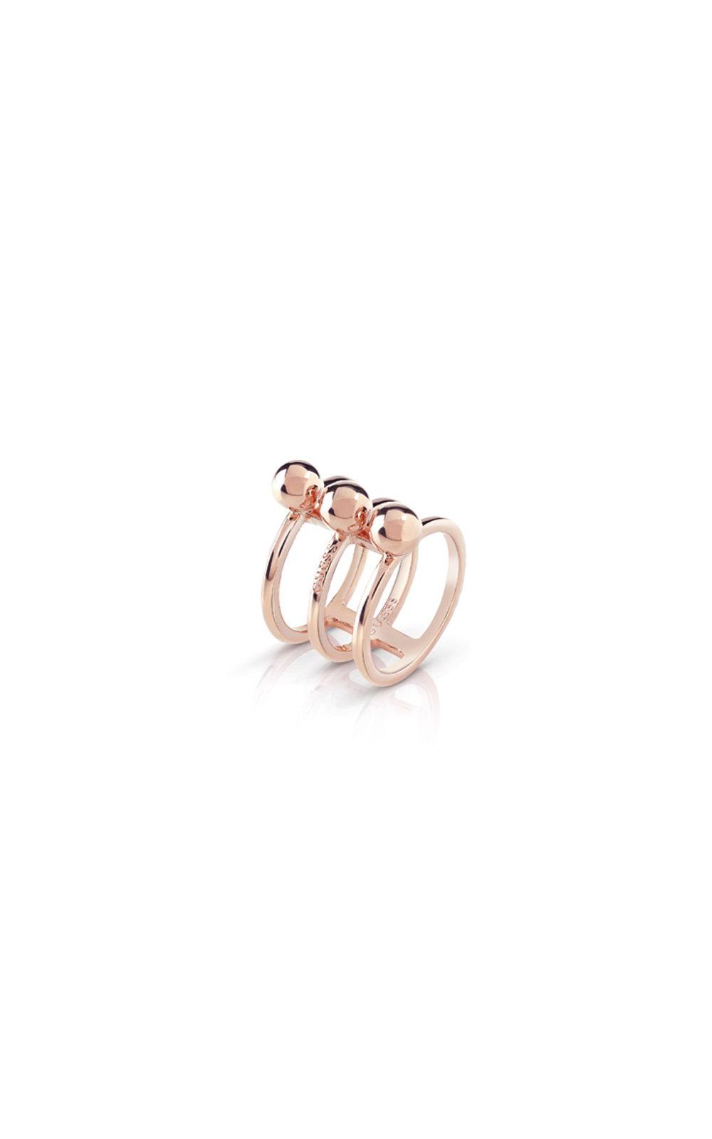 GUESS FAUX UBR85017-54 Ροζ Χρυσό Δαχτυλίδι Τρίβερο Με Χάντρες
