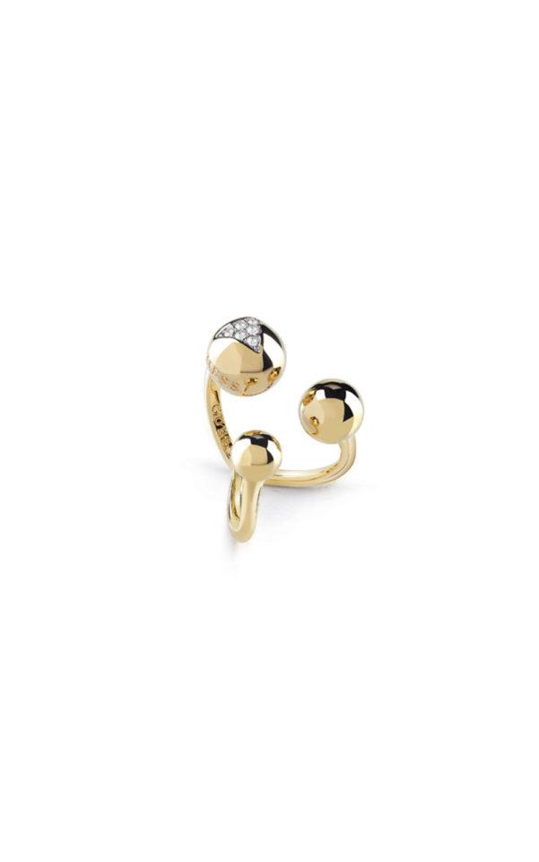 GUESS FAUX UBR85019-54 Χρυσό Δαχτυλίδι Με Χάντρες