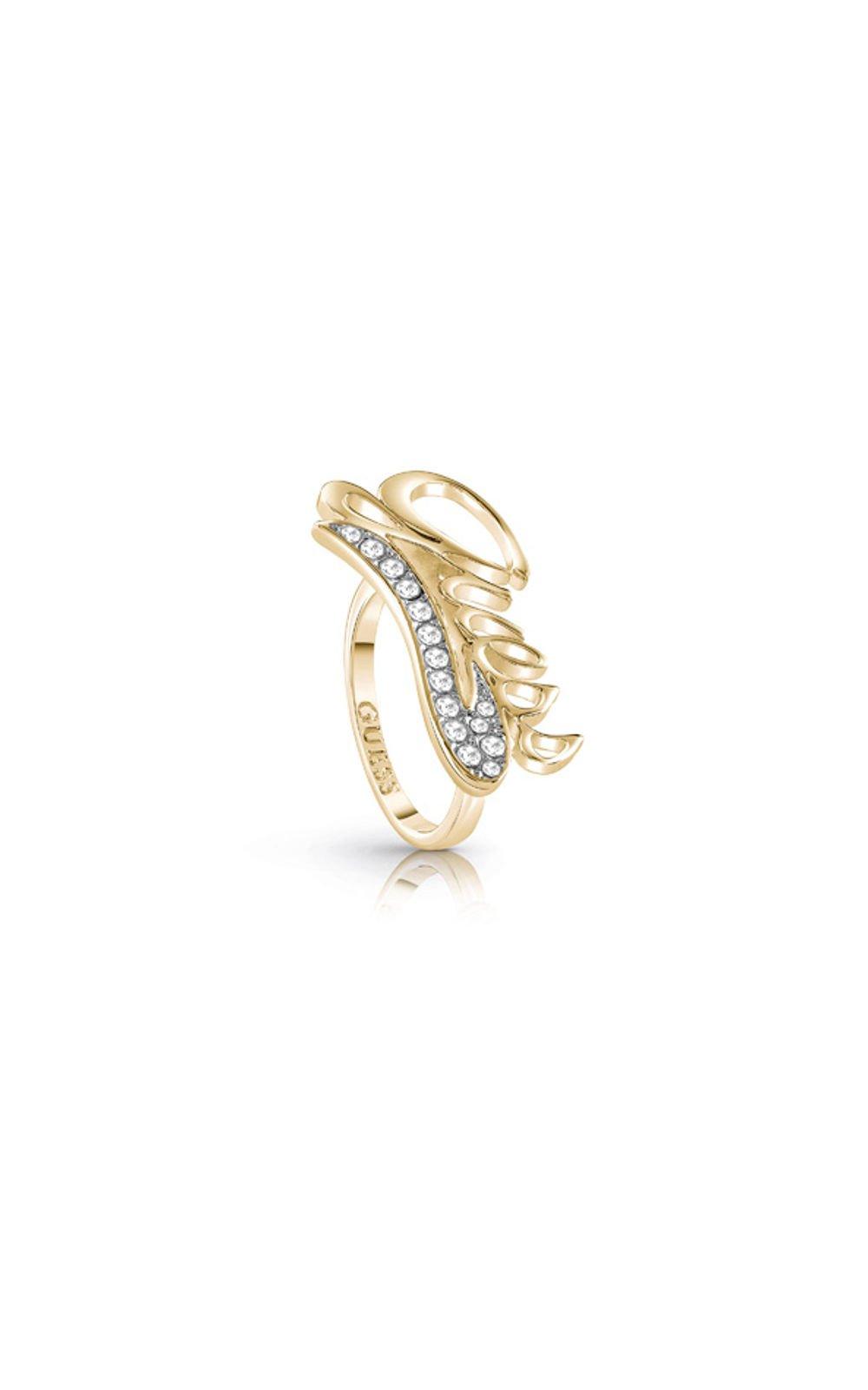 GUESS FAUX UBR85042-54 Χρυσό Δαχτυλίδι Με Λογότυπο