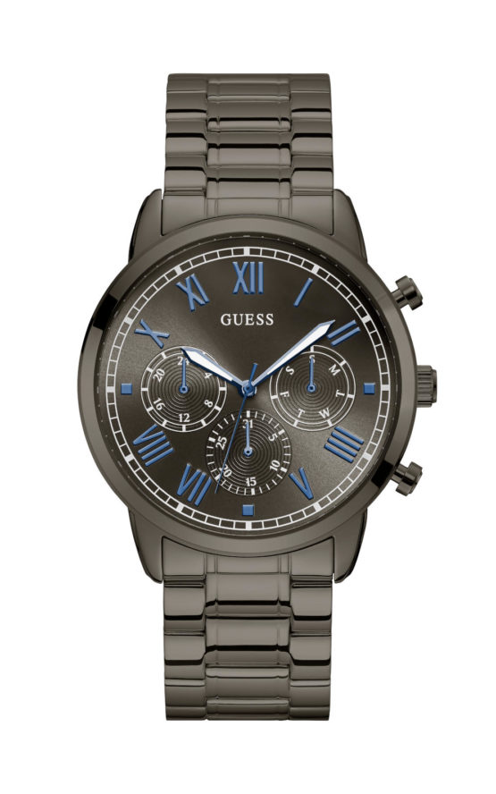 GUESS HENDRIX W1309G3 Ανδρικό Ρολόι Quartz Χρονογράφος Ακριβείας1