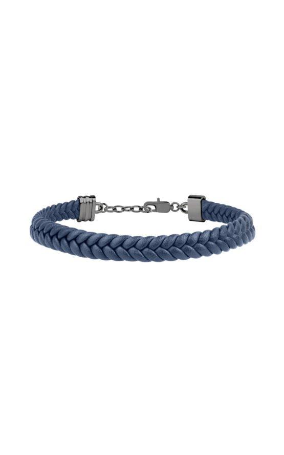 GUESS MEN JM418ANI04 Μπλε Δερμάτινο Βραχιόλι