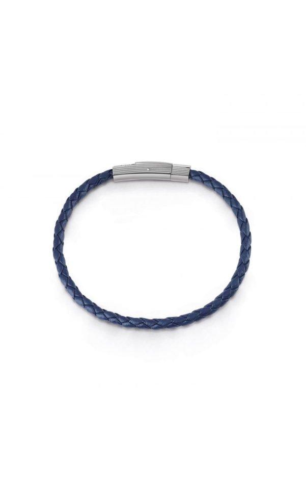 GUESS MEN UMB85005 Βραχιόλι Μπλε Δερμάτινο