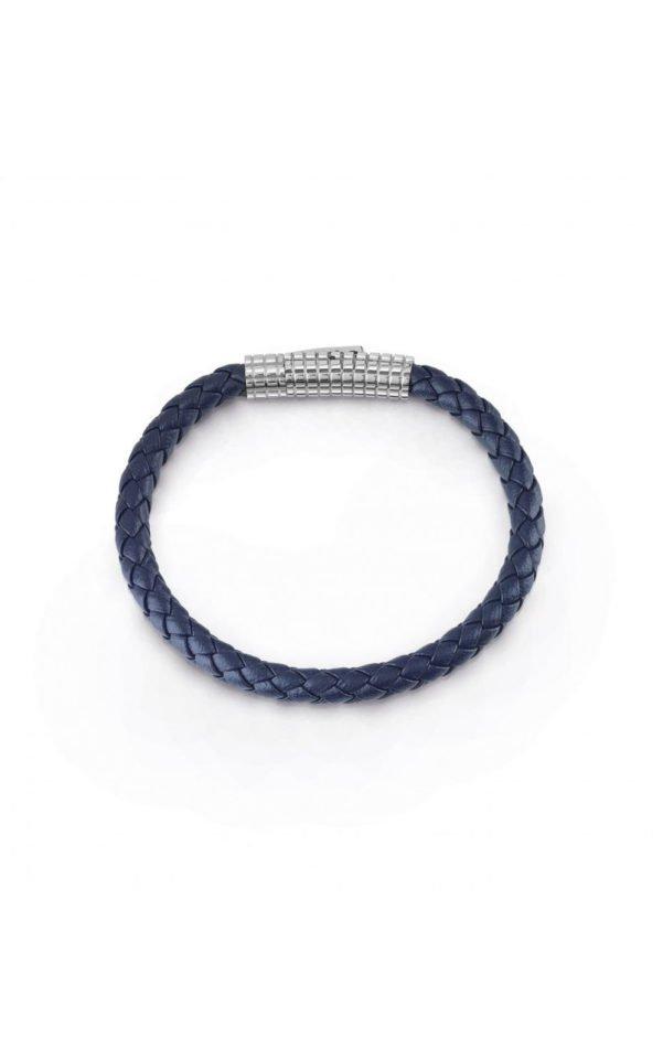 GUESS MEN UMB85008 Βραχιόλι Μπλε Δερμάτινο
