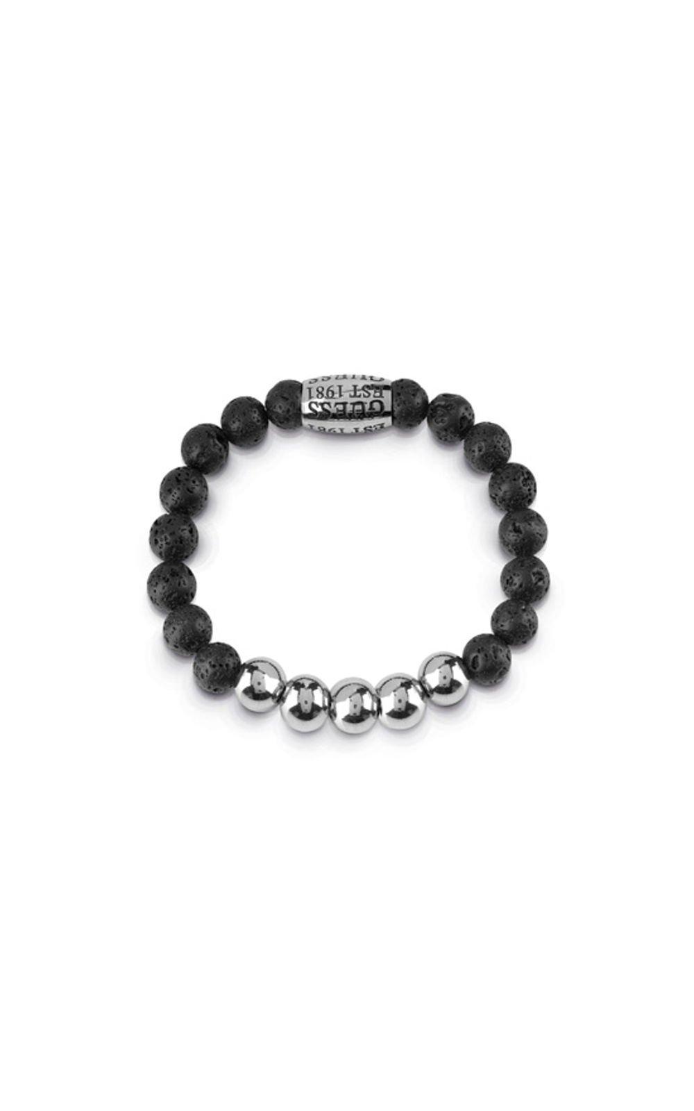 GUESS MEN UMB85016 Βραχιόλι Μαύρο Με Χάντρες