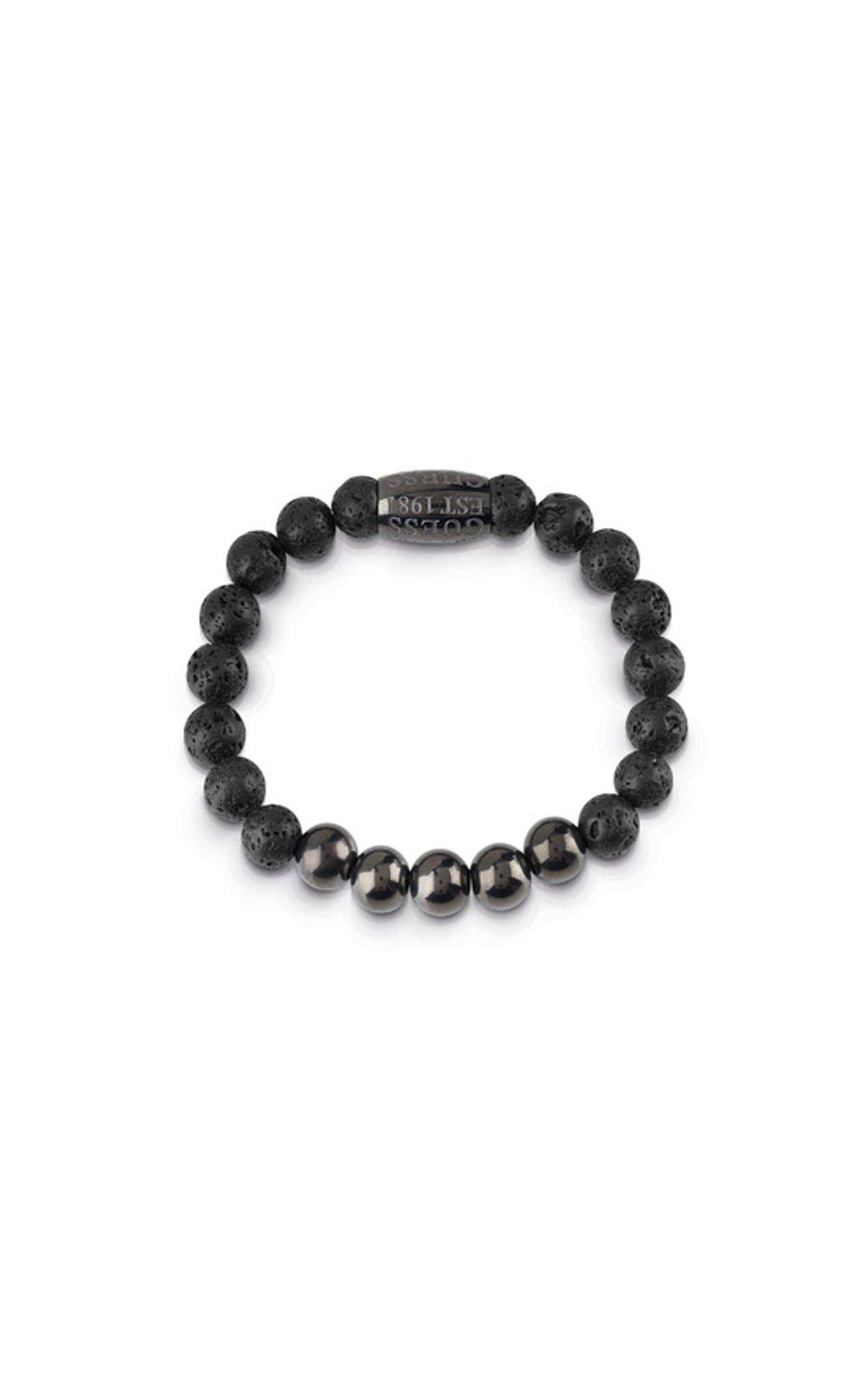 GUESS MEN UMB85017 Βραχιόλι Μαύρο Με Χάντρες
