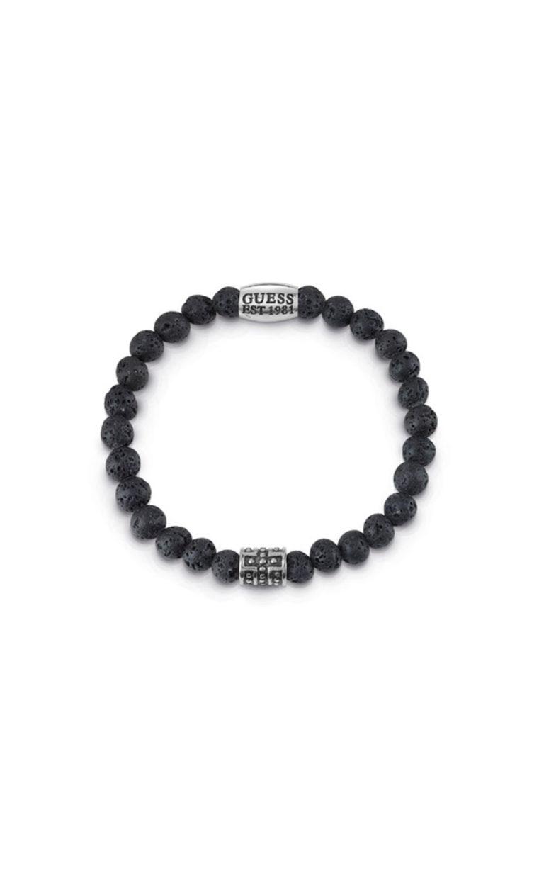 GUESS MEN UMB85019 Βραχιόλι Μαύρο Με Χάντρες