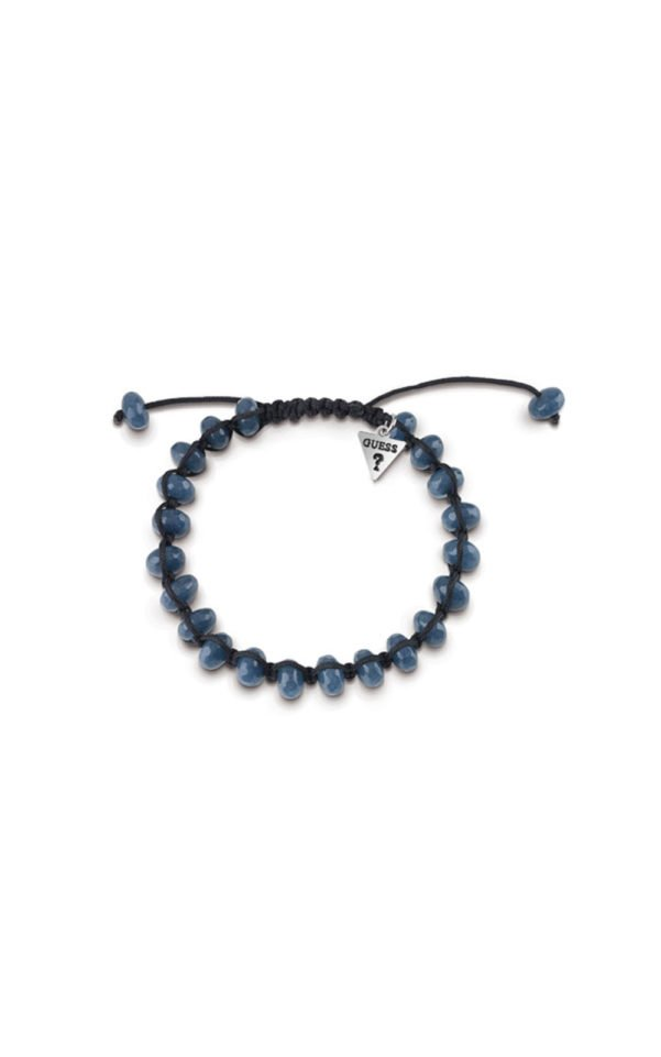 GUESS MEN UMB85021 Βραχιόλι Μαύρο Με Μπλε Χάντρες