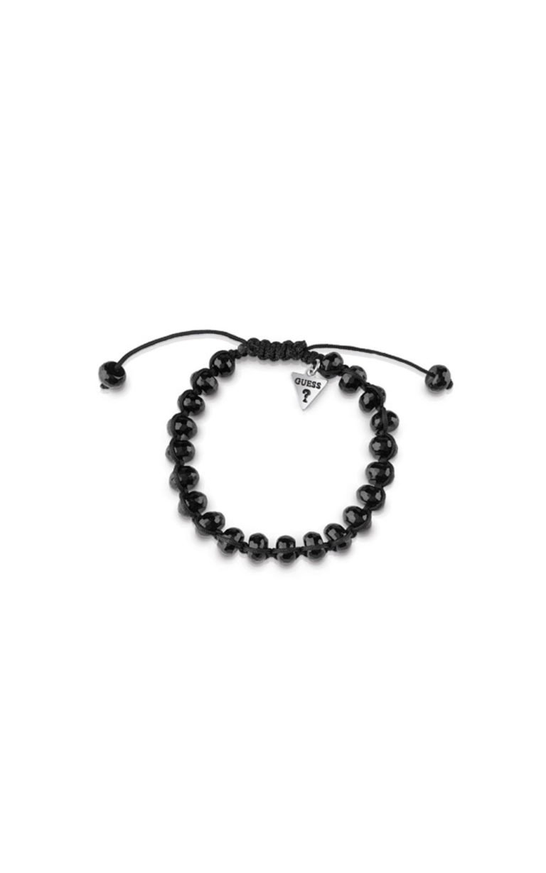 GUESS MEN UMB85024 Βραχιόλι Μαύρο Με Μαύρες Χάντρες