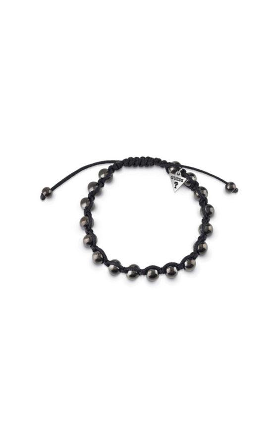 GUESS MEN UMB85025 Βραχιόλι Μαύρο Με Μαύρες Χάντρες
