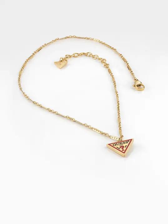 GUESS STEEL L.A. GUESSERS UBN29061 Χρυσό Κολιέ Με Λογότυπο