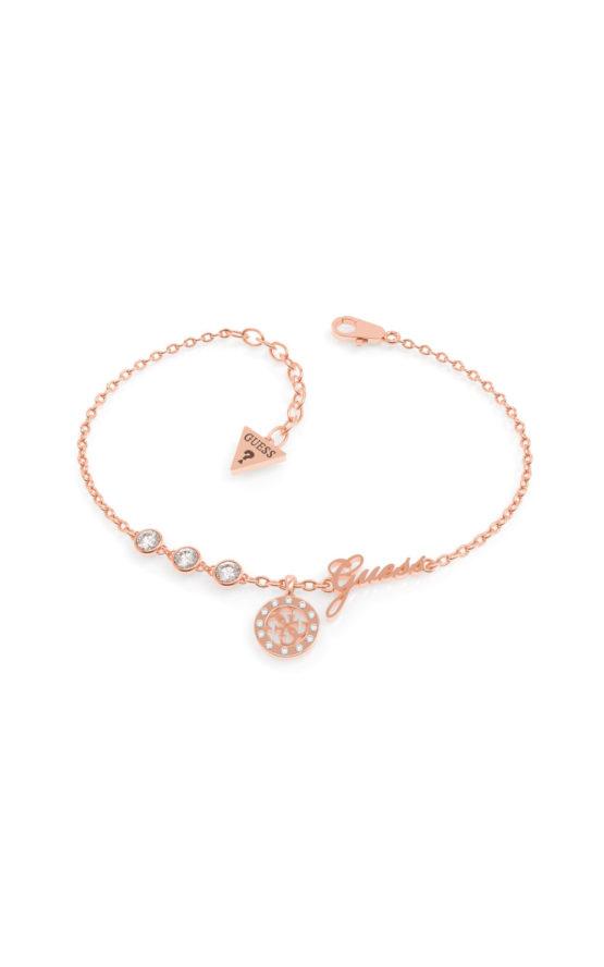 GUESS STEEL MINIATURE UBB79043-S Ροζ Χρυσό Βραχιόλι Με Λογότυπο