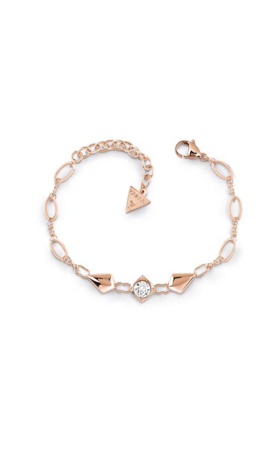 GUESS STEEL UBB29150-S Ροζ Χρυσό Βραχιόλι Με Ρόμβους