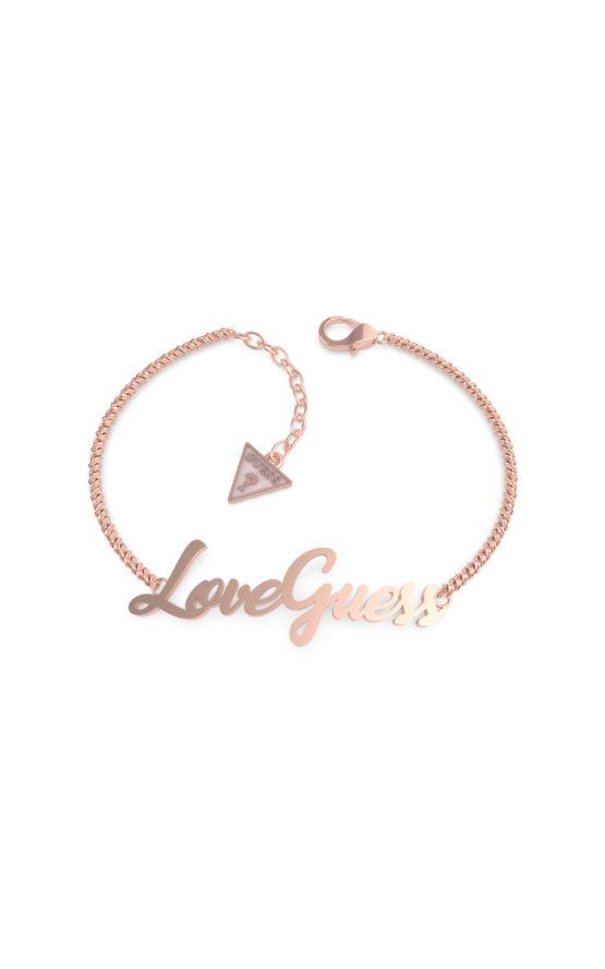GUESS STEEL UBB70059-S Ροζ Χρυσό Βραχιόλι Love Guess