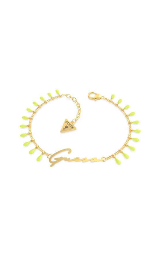 GUESS STEEL UBB70121-S Χρυσό Βραχιόλι Με Κρεμαστά
