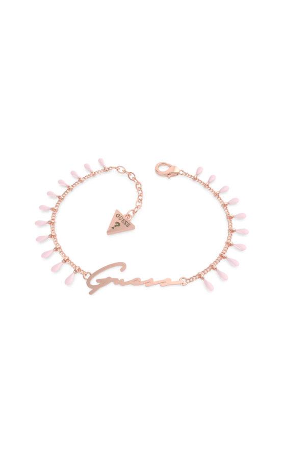 GUESS STEEL UBB70124-S Ροζ Χρυσό Βραχιόλι Με Κρεμαστά