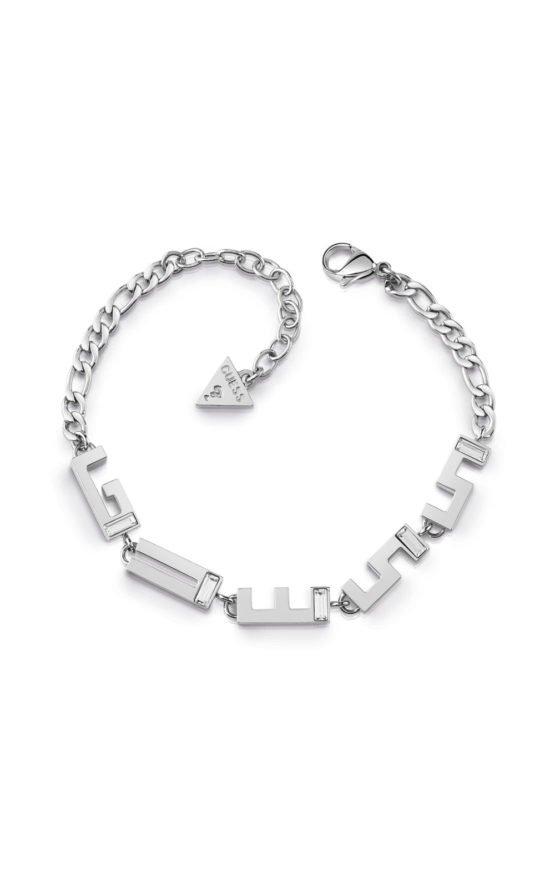 GUESS STEEL UBB78072-S Ασημένιο Βραχιόλι Με Λογότυπο