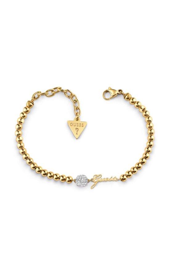 GUESS STEEL UBB78077-S Χρυσό Βραχιόλι Με Πέρλες