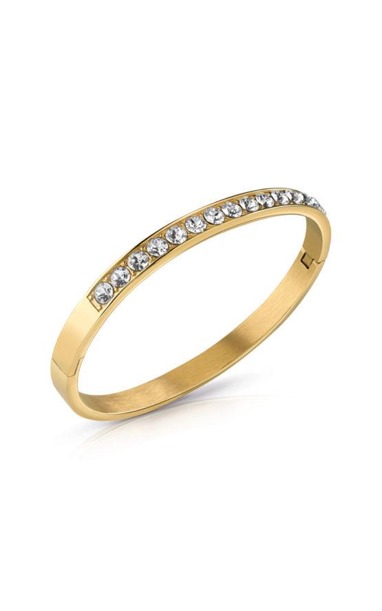 GUESS STEEL UBB78109-S Χρυσό Βραχιόλι Με Πέτρες
