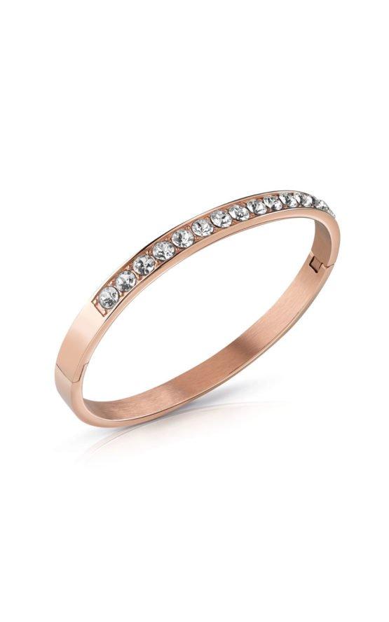 GUESS STEEL UBB78110-S Ροζ Χρυσό Βραχιόλι Με Πέτρες
