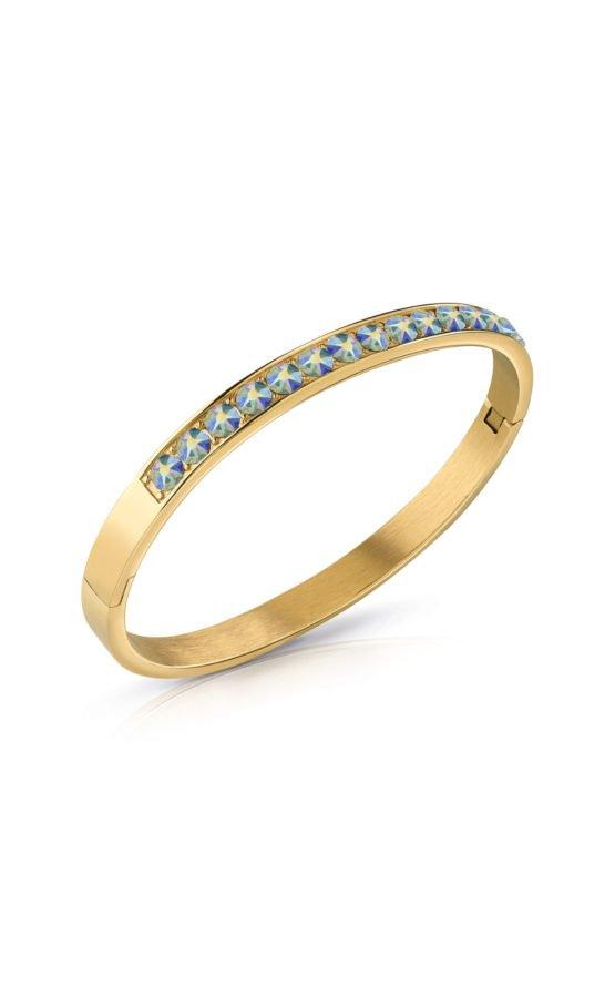 GUESS STEEL UBB78113-S Χρυσό Βραχιόλι Με Γαλάζιες Πέτρες