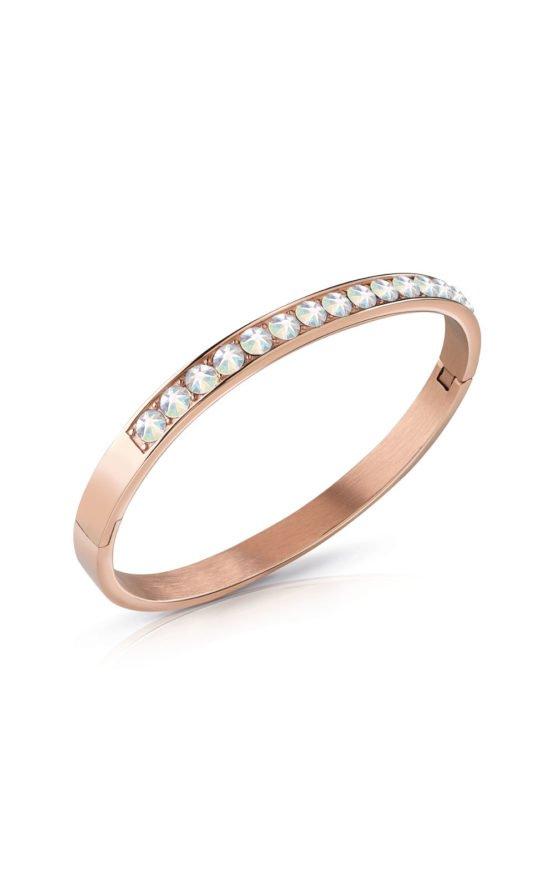 GUESS STEEL UBB78114-S Ροζ Χρυσό Βραχιόλι Με Ιριδίζον Πέτρες
