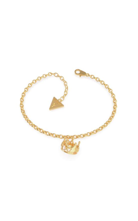 GUESS STEEL UBB79013-S Χρυσό Βραχιόλι Με Κορώνα