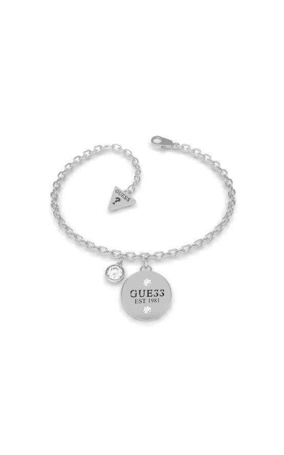 GUESS STEEL UBB79053-S Ασημένιο Βραχιόλι Με Charm
