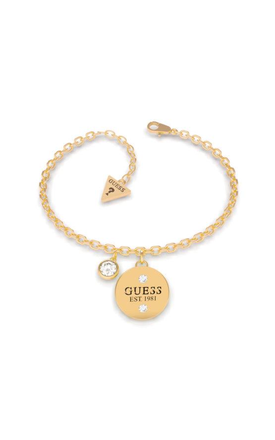 GUESS STEEL UBB79054-S Χρυσό Βραχιόλι Με Charm