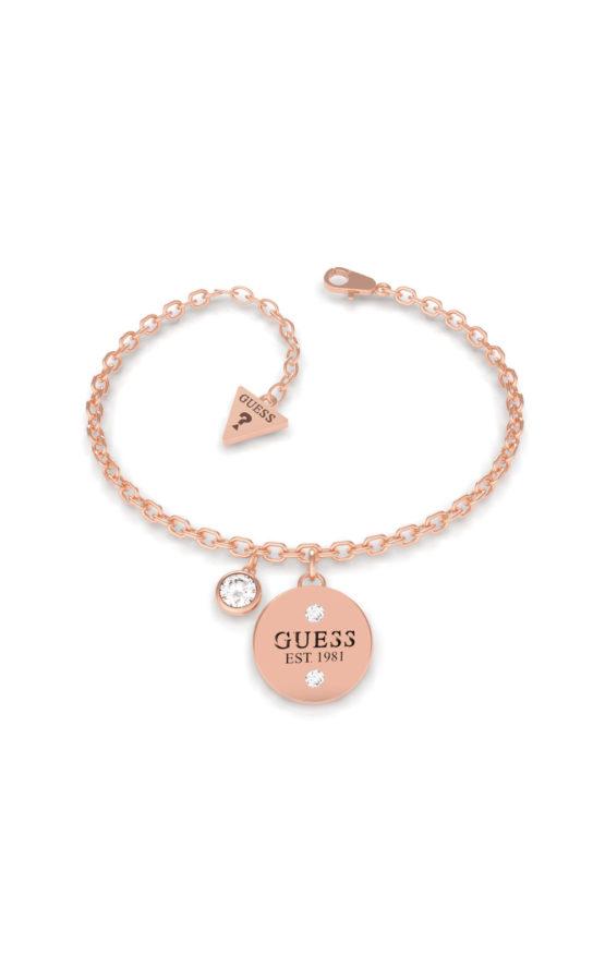 GUESS STEEL UBB79055-S Ροζ Χρυσό Βραχιόλι Με Charm