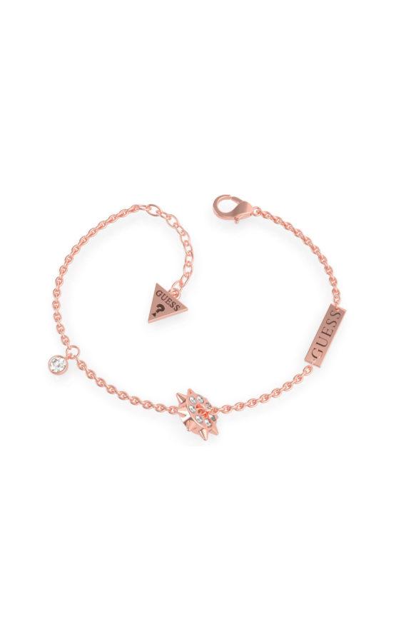 GUESS STEEL UBB79076-S Ροζ Χρυσό Βραχιόλι Με Καρφάκια