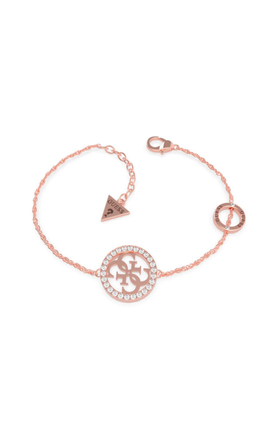 GUESS STEEL UBB79083-S Ροζ Χρυσό Βραχιόλι Με Σχέδιο Με Πέτρες