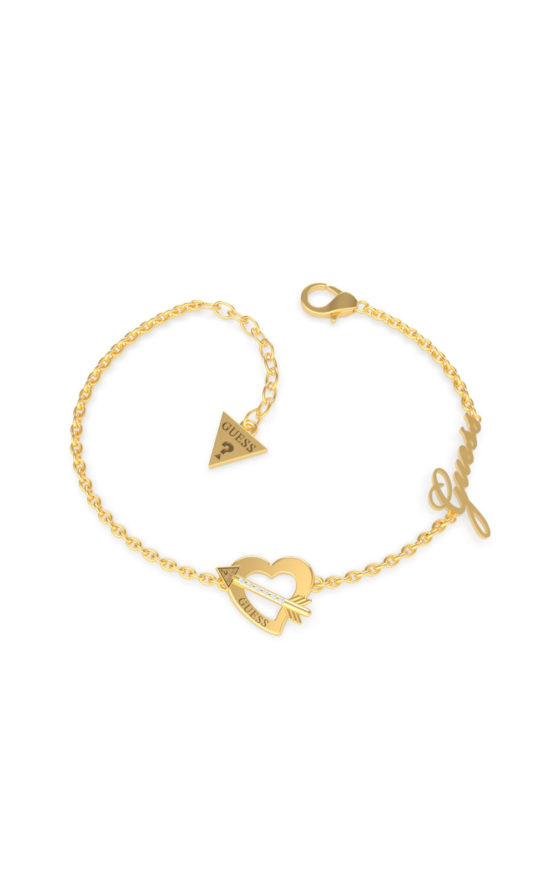 GUESS STEEL UBB79091-S Χρυσό Βραχιόλι Με Καρδιά